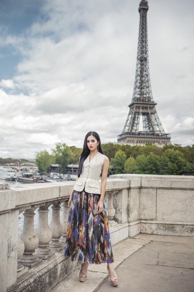Hoa hậu Tiểu Vy khoe trọn bộ ảnh đẹp say đắm tại Pháp - Ảnh 6.