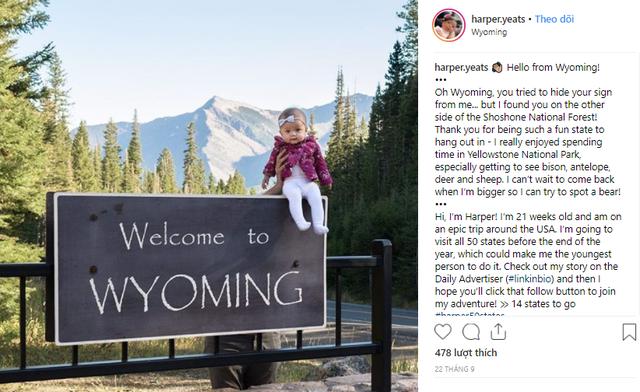 Kỷ lục thế giới: bé gái 5 tháng tuổi đi du lịch hết 50 tiểu bang nước Mỹ - Ảnh 2.