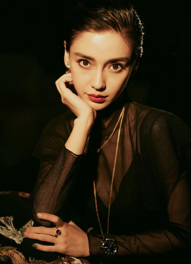 Angelababy đẹp cuốn hút với sắc đen - Ảnh 1.
