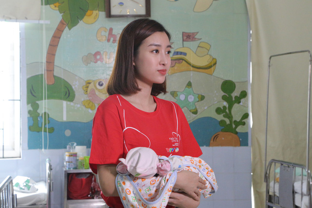 Hoa hậu Đỗ Mỹ Linh kêu gọi ủng hộ bệnh nhi tim bẩm sinh - Ảnh 2.