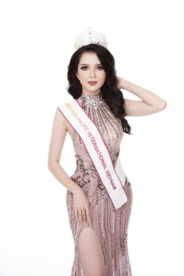 Thúy Vi diện đầm dạ hội trước thềm Chung kết Hoa hậu châu Á-Thái Bình Dương - Ảnh 5.