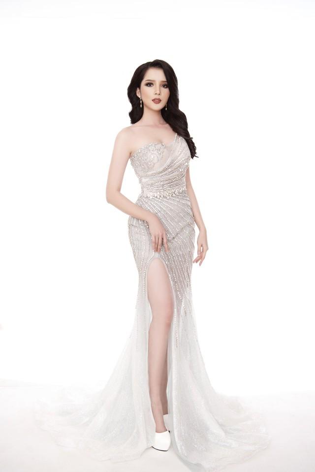 Thúy Vi diện đầm dạ hội trước thềm Chung kết Hoa hậu châu Á-Thái Bình Dương - Ảnh 1.
