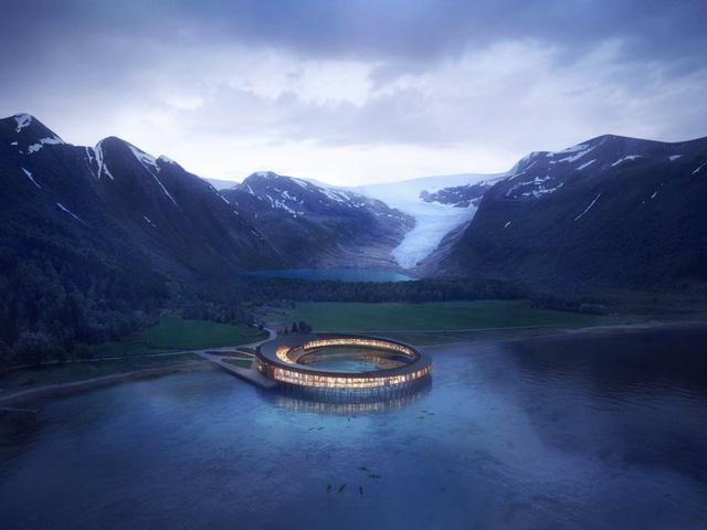 Khám phá khách sạn đẹp huyền ảo như trong phim khoa học viễn tưởng - Ảnh 1.