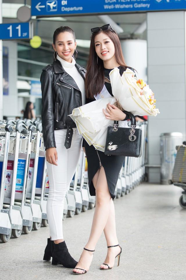 Hoa hậu Tiểu Vy tiễn Á hậu Phương Nga lên đường thi Hoa hậu Hòa bình - Ảnh 4.