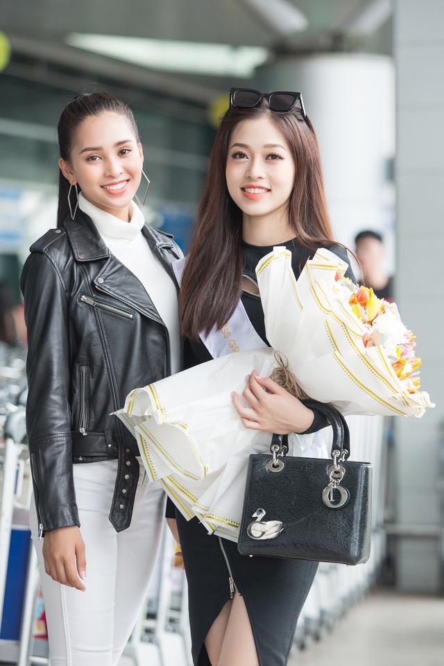Hoa hậu Tiểu Vy tiễn Á hậu Phương Nga lên đường thi Hoa hậu Hòa bình - Ảnh 3.