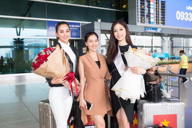 Hoa hậu Tiểu Vy tiễn Á hậu Phương Nga lên đường thi Hoa hậu Hòa bình - Ảnh 6.