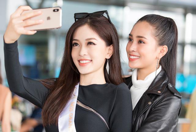Hoa hậu Tiểu Vy tiễn Á hậu Phương Nga lên đường thi Hoa hậu Hòa bình - Ảnh 5.