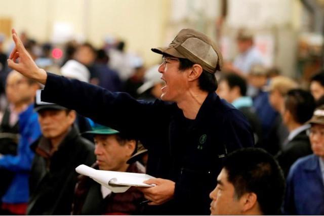 Phiên đấu giá cuối cùng năm 2018 tại chợ cá lớn nhất thế giới Tsukiji - Ảnh 2.