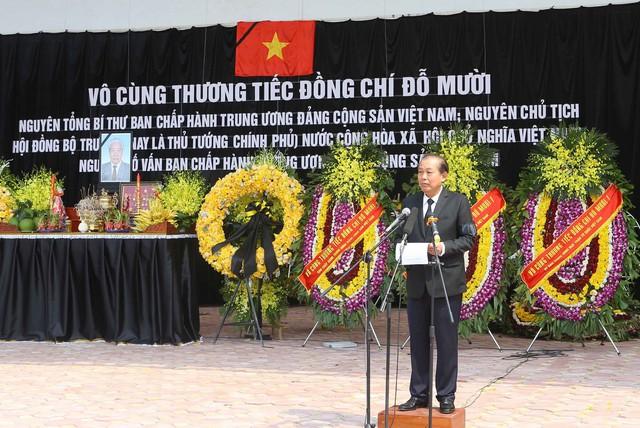Hình ảnh Lễ an táng nguyên Tổng Bí thư Đỗ Mười tại quê nhà - Ảnh 1.