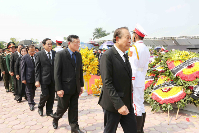 Hình ảnh Lễ an táng nguyên Tổng Bí thư Đỗ Mười tại quê nhà - Ảnh 11.