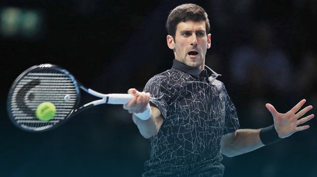 Novak Djokovic lần thứ 7 vào chung kết ATP Finals - Ảnh 1.