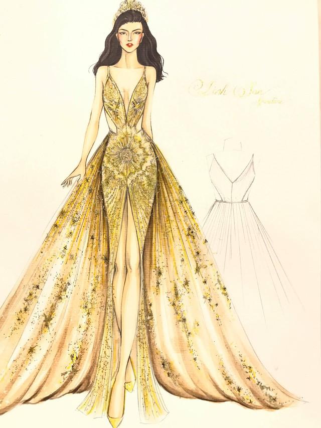 Hé lộ chiếc đầm Nguyễn Phương Khánh mặc trong đêm Chung kết Miss Earth 2018 - Ảnh 2.