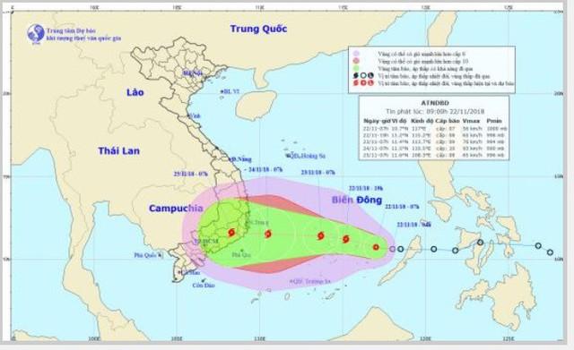 Ứng phó với áp thấp nhiệt đới sắp đổ bộ khu vực từ Phú Yên đến Bình Thuận - Ảnh 1.