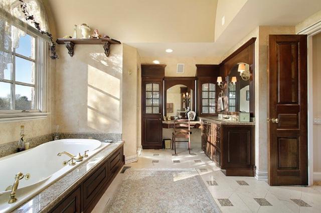 Những mẫu thiết kế phòng tắm cuốn hút mọi ánh nhìn - Ảnh 3.