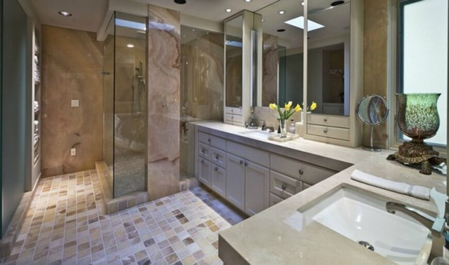 Những mẫu thiết kế phòng tắm cuốn hút mọi ánh nhìn - Ảnh 5.