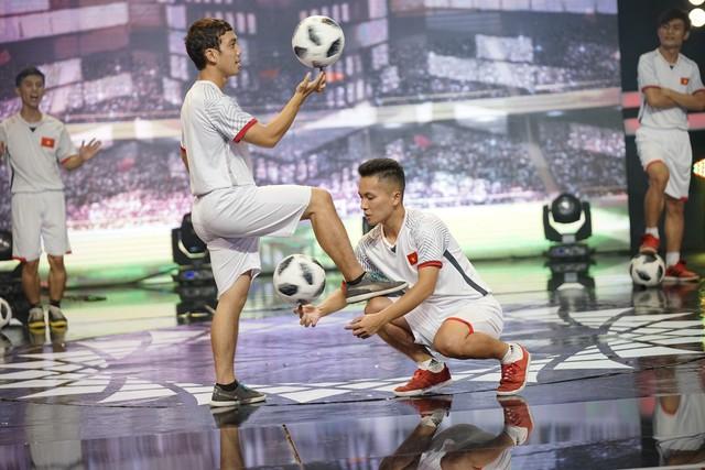 Thí sinh 100 giây rực rỡ tái hiện giây phút lịch sử của U23 Việt Nam - Ảnh 4.