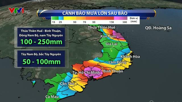 Bão số 9 suy yếu thành áp thấp nhiệt đới, tiếp tục gây mưa lớn ở TP.HCM - Ảnh 1.