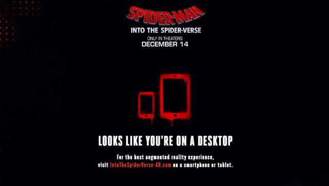 Trải nghiệm sớm siêu phẩm Spider-Man: Into the Spider-Verse theo phong cách AR - Ảnh 1.