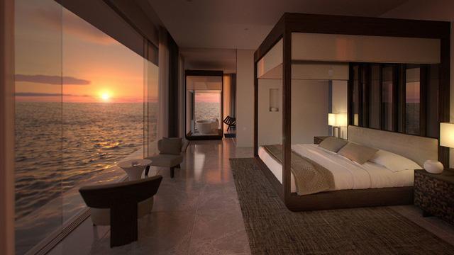 Choáng hợp với biệt thự dưới đáy biển đầu tiên tại Maldives - Ảnh 4.