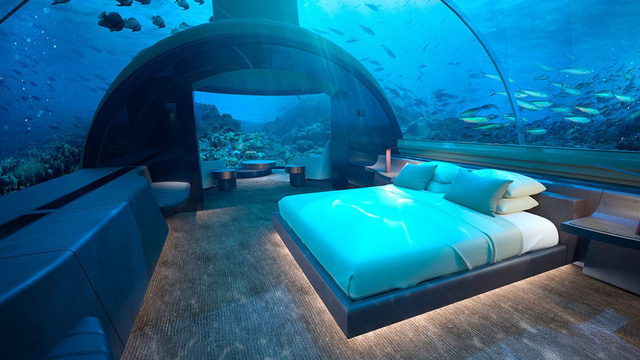 Choáng hợp với biệt thự dưới đáy biển đầu tiên tại Maldives - ảnh 1