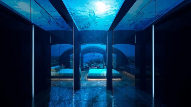 Choáng hợp với biệt thự dưới đáy biển đầu tiên tại Maldives - Ảnh 2.