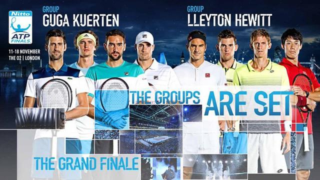 CHÍNH THỨC: Kết quả bốc thăm chia bảng ATP Finals - Ảnh 1.