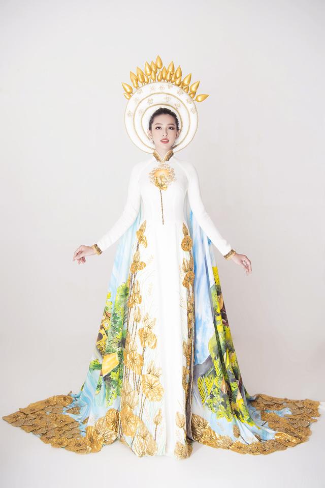 Thuỳ Tiên hé lộ trang phục truyền thống khi vừa lọt Top 8 Miss International - Ảnh 4.
