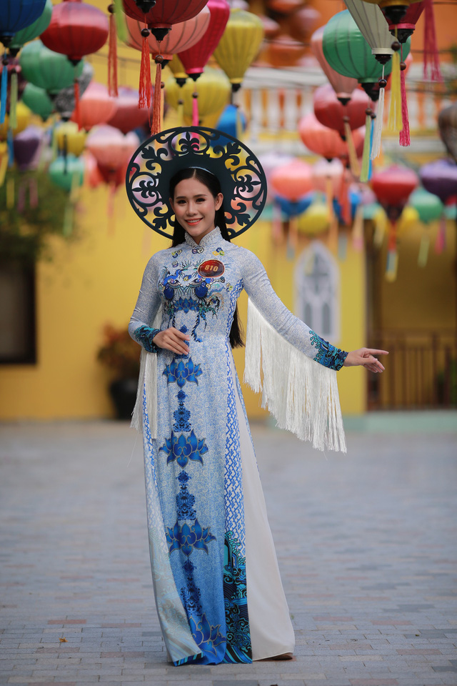 Ngắm dàn thí sinh Hoa khôi Sinh viên dịu dàng giữa phố cổ Hội An - Ảnh 3.