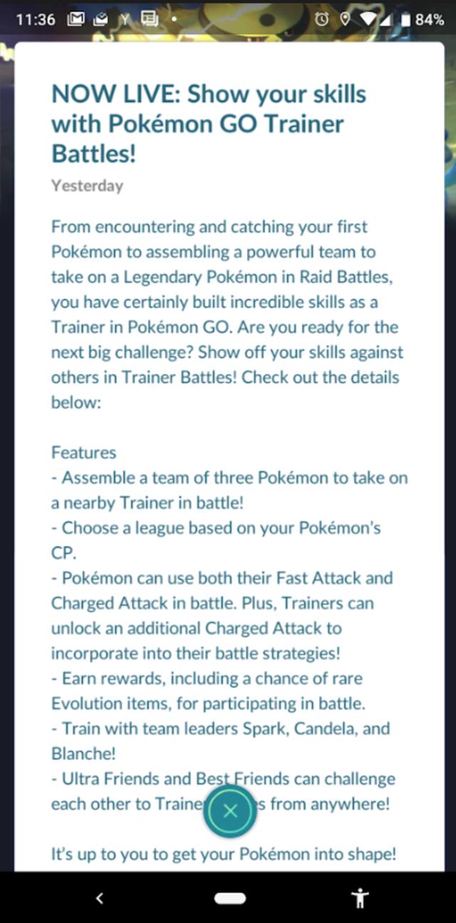 Người chơi Pokémon GO có thể thách đấu khi đạt từ level 10 trở lên - Ảnh 1.