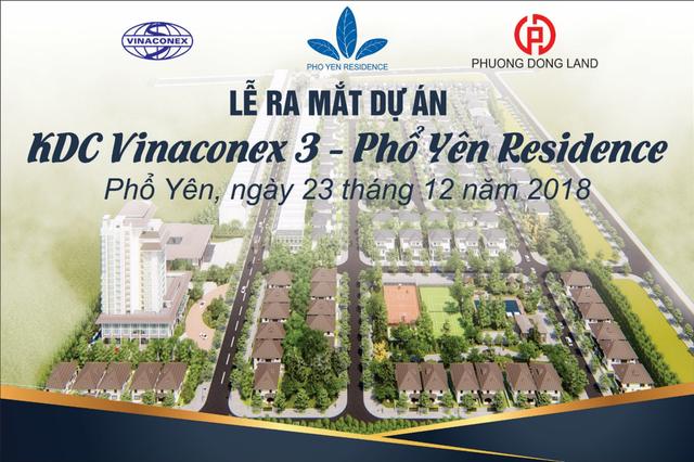 Ngày 23/12/2018, Vinaconex 3 chính thức cho ra mắt dự án Phổ Yên Residence - Ảnh 1.
