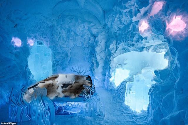 Choáng ngợp với những tuyệt tác điêu khắc trong khách sạn băng Thụy Điển - Ảnh 2.