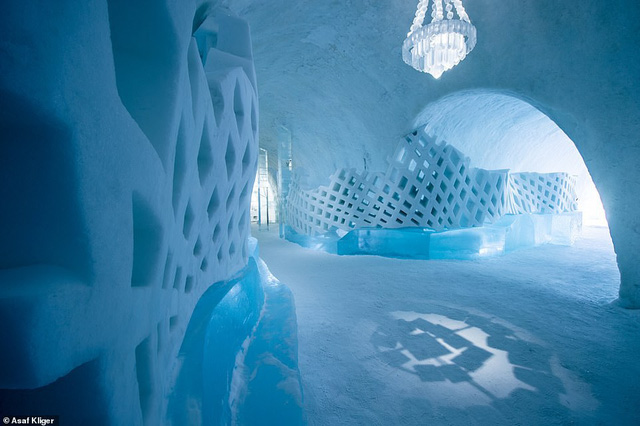 Choáng ngợp với những tuyệt tác điêu khắc trong khách sạn băng Thụy Điển - Ảnh 7.