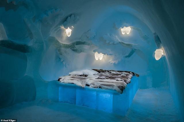 Choáng ngợp với những tuyệt tác điêu khắc trong khách sạn băng Thụy Điển - Ảnh 9.