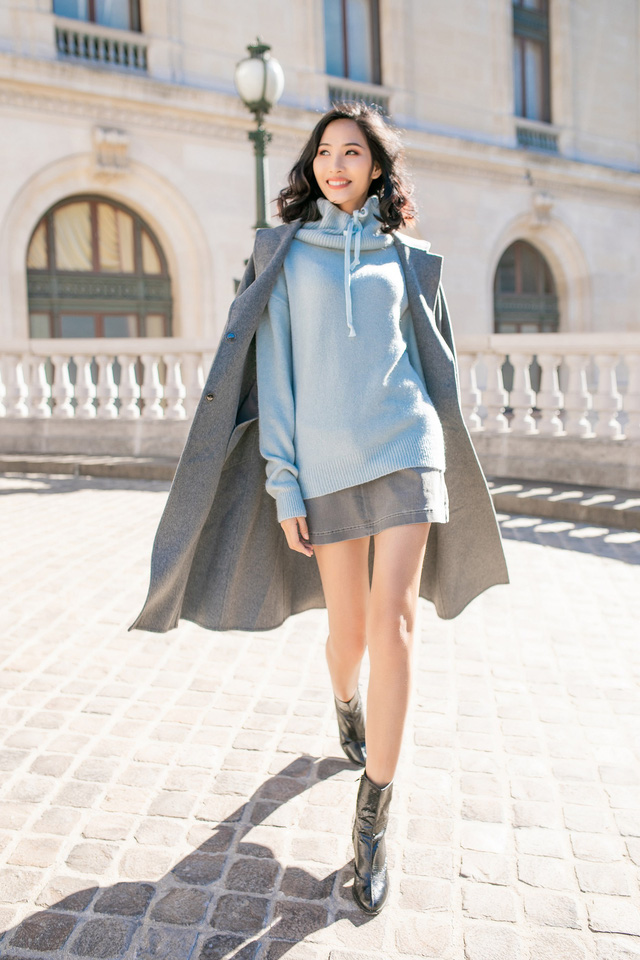 Hoàng Thùy khoe gu thời trang sành điệu tại Paris - Ảnh 3.