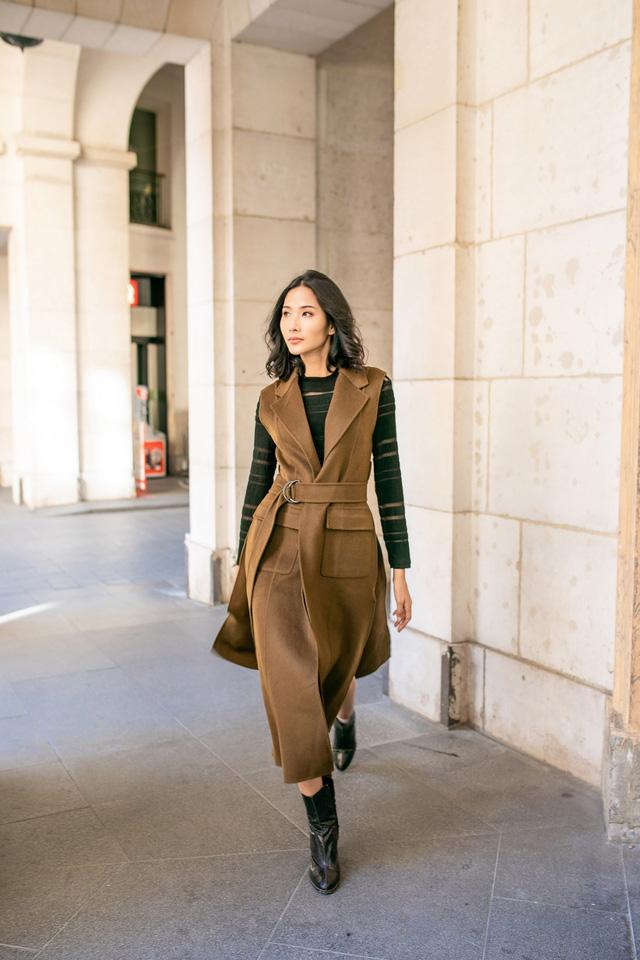 Hoàng Thùy khoe gu thời trang sành điệu tại Paris - Ảnh 1.