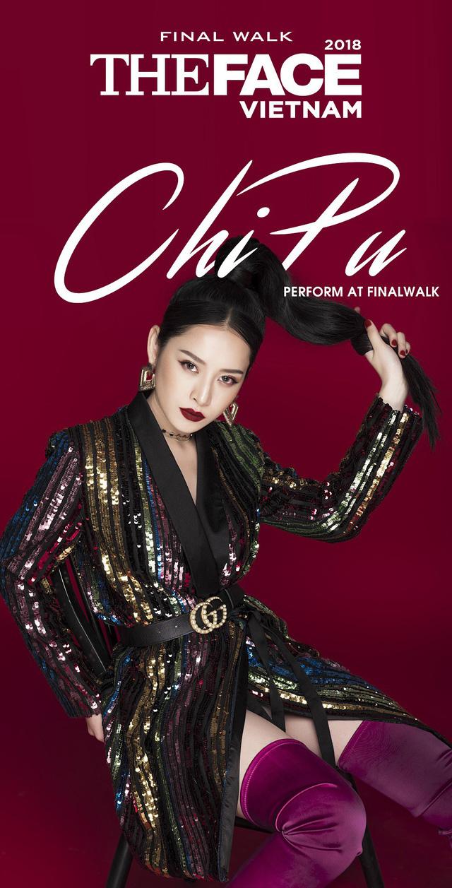 """Chi Pu khuấy động chung kết The Face Vietnam 2018 với hit mới """"Mời anh vào team em"""" - Ảnh 1."""