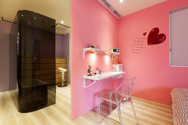 Căn hộ màu sắc được trang trí bằng giấy dán tường - Ảnh 9.