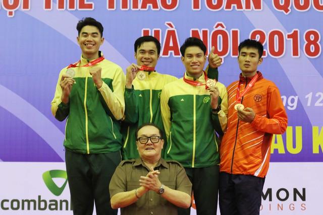 Đại hội TTTQ 2018: TP.HCM giành trọn bộ huy chương kiếm ba cạnh - Ảnh 1.