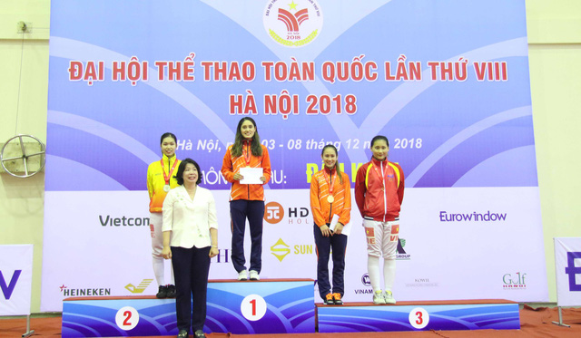 Đại hội TTTQ 2018: TP.HCM giành trọn bộ huy chương kiếm ba cạnh - Ảnh 2.