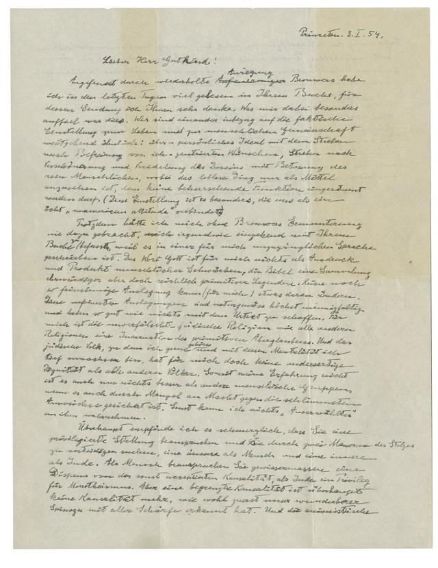 Bức thư của Albert Einstein được bán với giá kỷ lục 2,89 triệu USD - Ảnh 1.