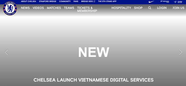 Chelsea phát hành dịch vụ số tiếng Việt - Ảnh 1.