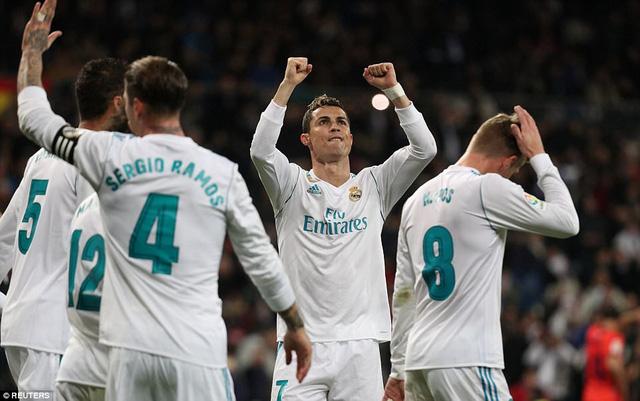 Kết quả bóng đá sáng 11/02: Ronaldo lập hat-trick, Real Madrid trở lại top 3 - Ảnh 9.