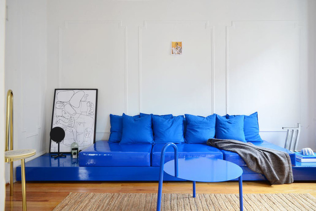Tô điểm màu xanh cho căn hộ thêm phần nổi bật - Ảnh 7.