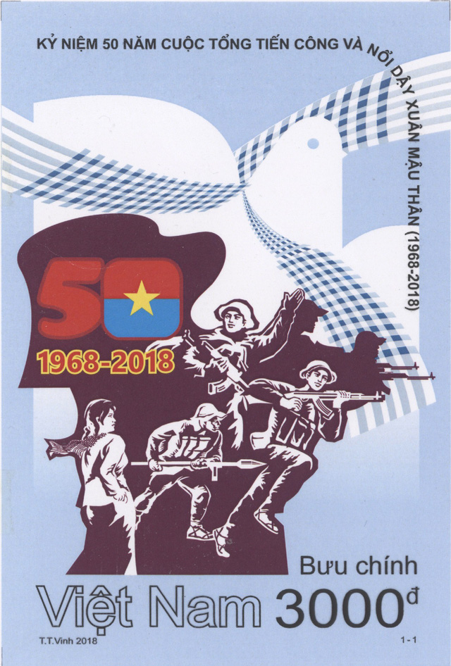 Phát hành đặc biệt bộ tem Kỷ niệm 50 năm Cuộc Tổng tiến công và nổi dậy Xuân Mậu Thân - Ảnh 1.