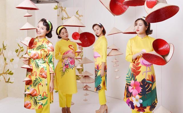 Thanh Vân Hugo cùng hội chị em khoe áo dài đón Tết - Ảnh 3.