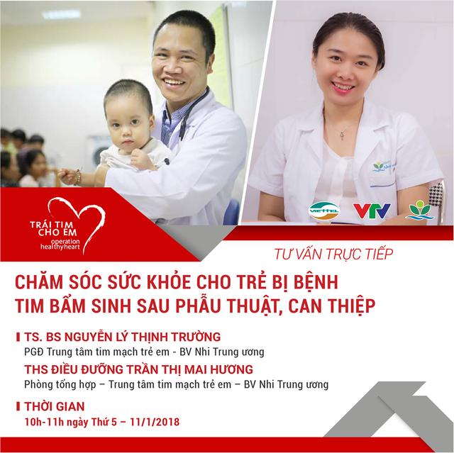 Livestream: Chăm sóc sức khỏe cho bệnh nhi tim bẩm sinh sau phẫu thuật, can thiệp - Ảnh 1.