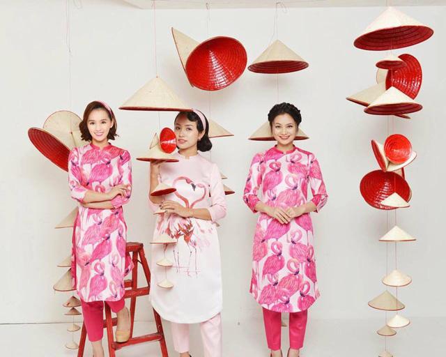 Thanh Vân Hugo cùng hội chị em khoe áo dài đón Tết - Ảnh 5.