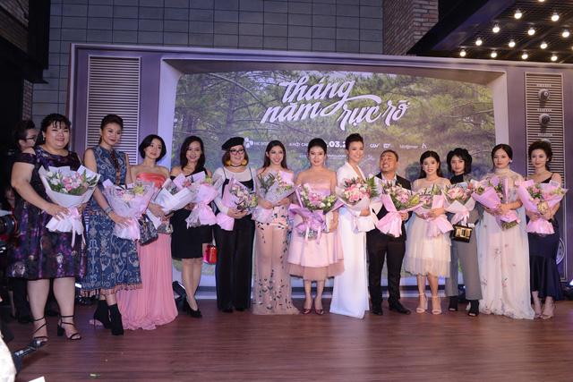 Dàn mỹ nhân của Tháng năm rực rỡ đọ sắc tại Hà Nội - Ảnh 1.