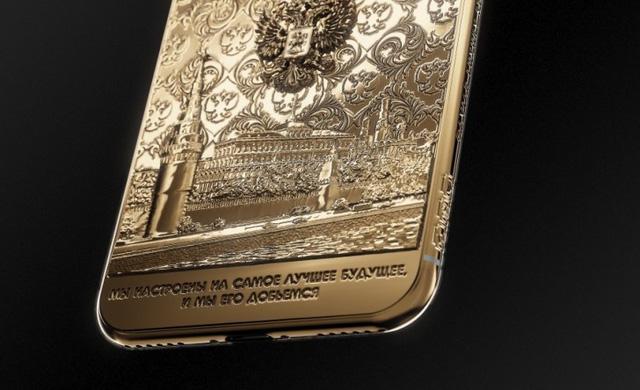 iPhone X vàng ròng in hình tổng thống Putin giá 5.000 USD - Ảnh 1.