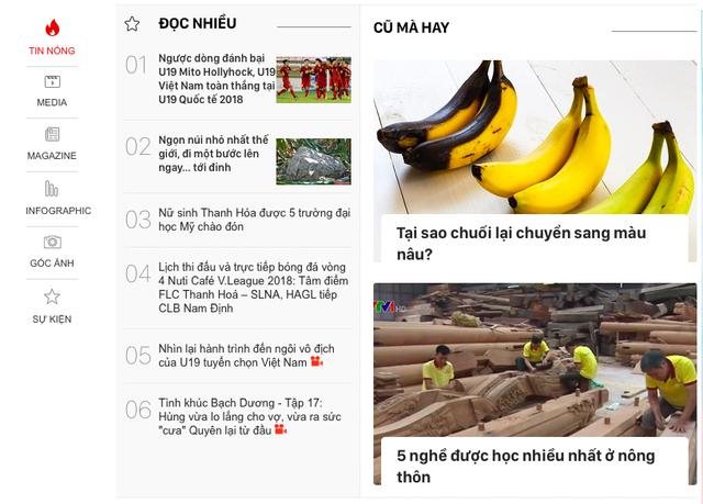 Báo điện tử VTV News thử nghiệm phiên bản mới - Ảnh 1.